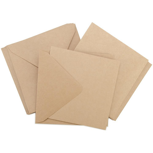 "Kraft Card and Envelope Pack (5x5"")"