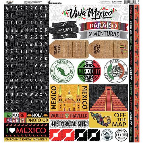 Mexico Alpha Sticker Sheet