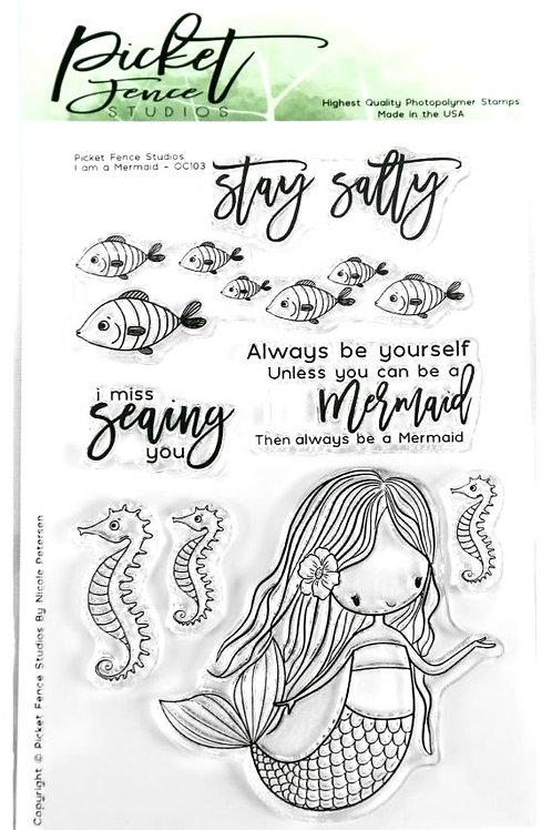 I am a Mermaid Clear Stamp Set