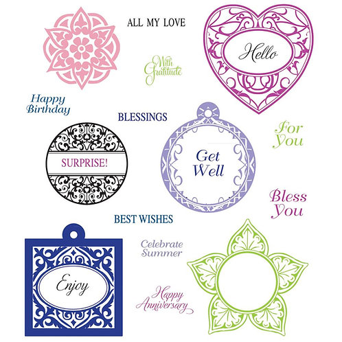 Elegant Charms and Sentiments Stamp Set