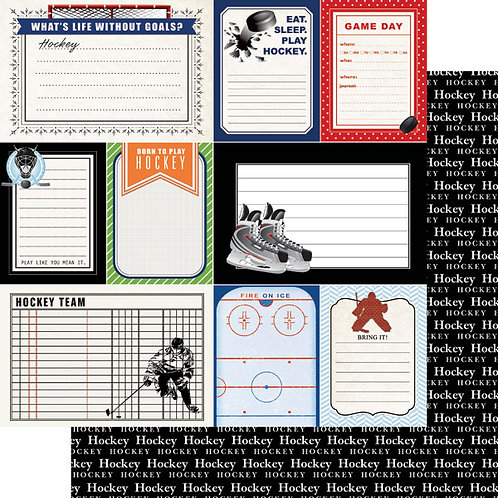 Hockey Life Journal Cardstock