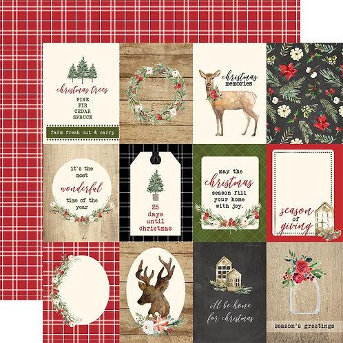 Carta Bella Christmas 3x4 Journaling Cards Cardstock