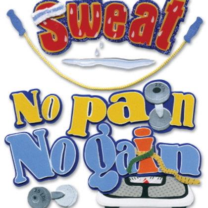 """Sweat"" Dimensional Stickers"