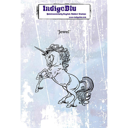 Jewel Unicorn Cling Rubber Stamp