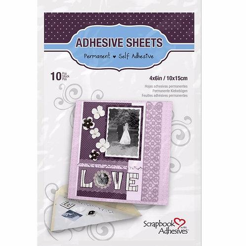 4x6 Adhesive Sheets, Permanent