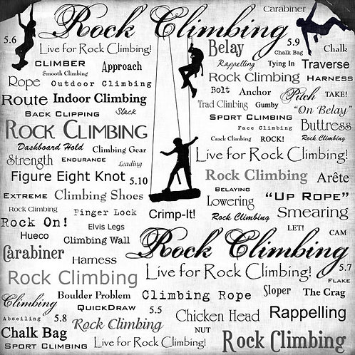 Live for Rock Climbing Paper