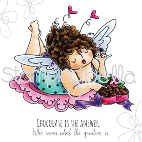 Edna Loves Chocolate Cling Rubber Stamp Set