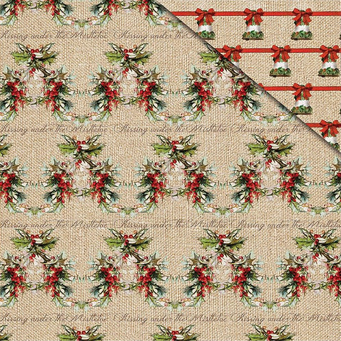 Xmas Memories, Christmas Holly Cardstock