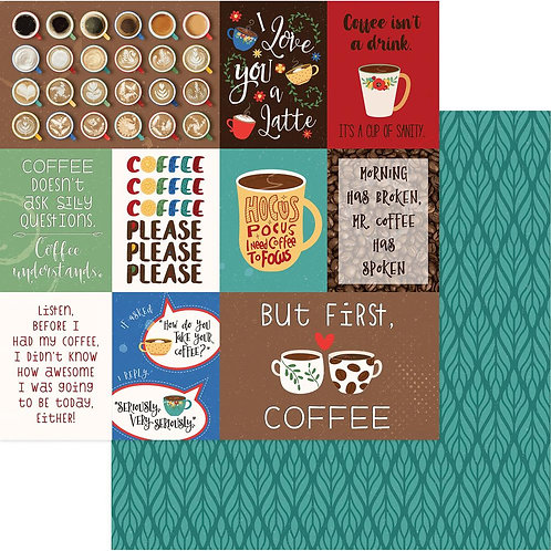 The Daily Grind But First Coffee Cardstock