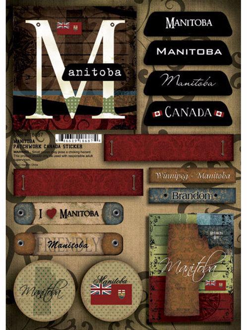 Manitoba Patchwork Embellishment Sheet