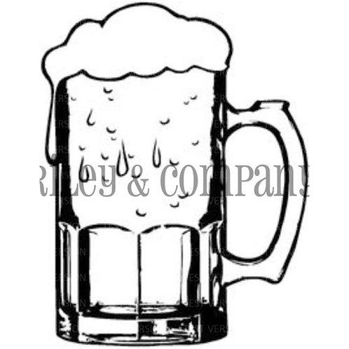 Beer Mug Cling Stamp