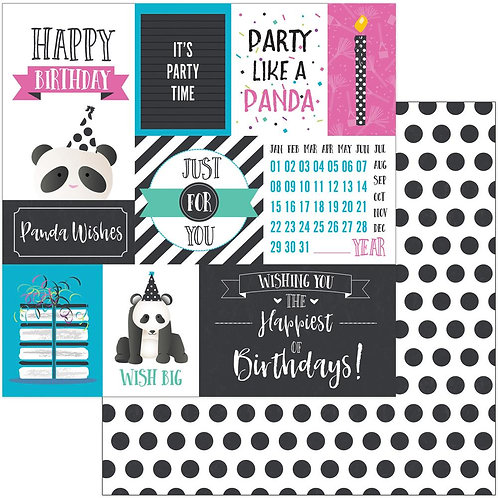 Panda Party Cardstock Panda Wishes