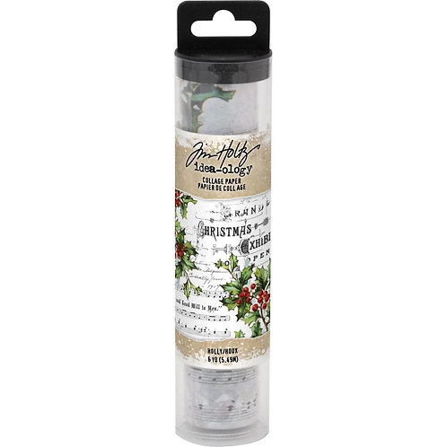 Tim Holtz Holly Collage Paper