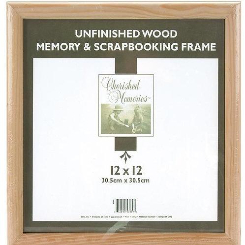 Unfinished Wood Scrapbook Frame