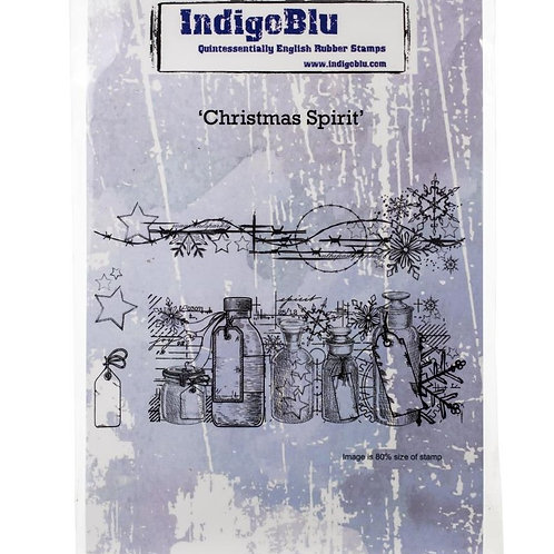 Christmas Spirit Cling Rubber Stamp Set