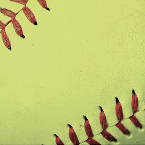 Softball Distressed Cardstock