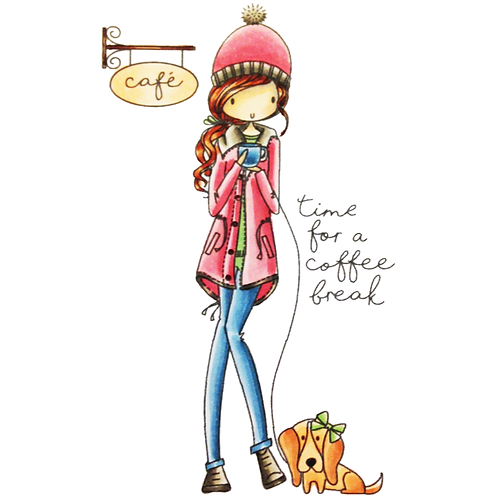 Time for a Coffee Break All Dressed Up Stamp Set
