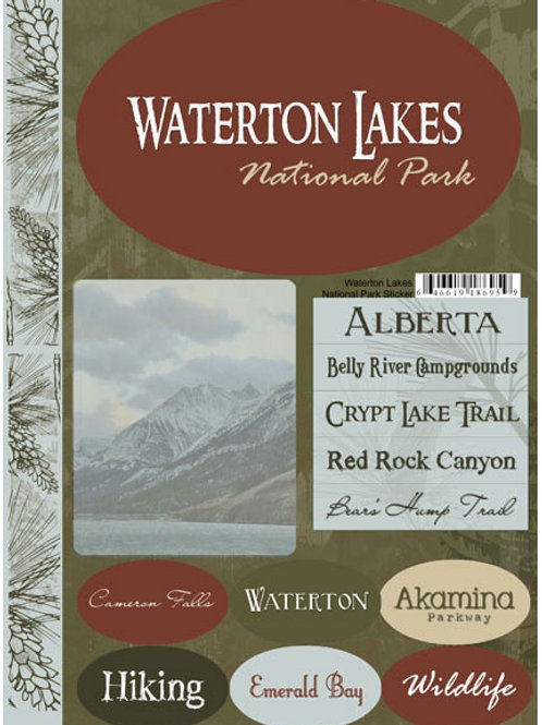 Waterton Lakes National Park Stickers