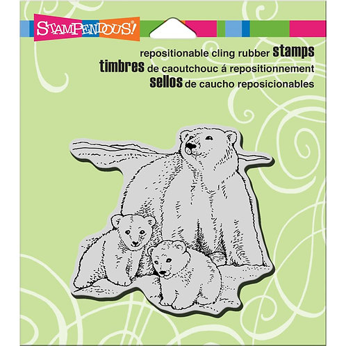 Polar Bear Play Cling Rubber Stamp