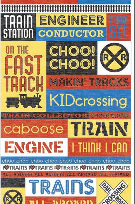 Trains Sticker Sheet