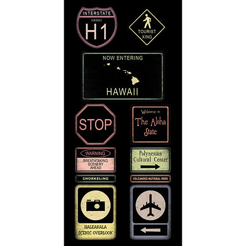 Hawaii Road Sign Stickers