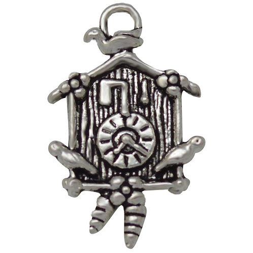 Silver Cuckoo Clock Charm