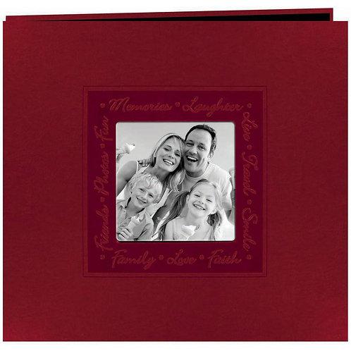Red Embossed 12x12 Scrapbook Album
