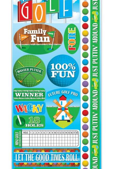 Mini Golf Sticker Sheet