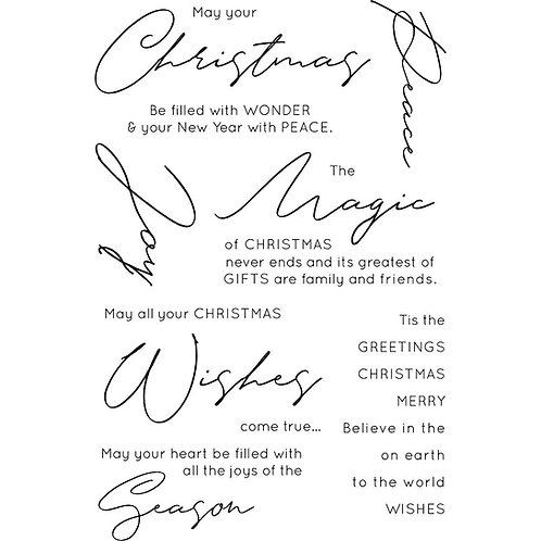 Christmas Wishes Sentiment Stamp Set