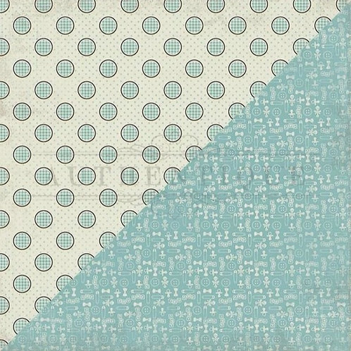 Swaddle Boy 7 Dots Cardstock
