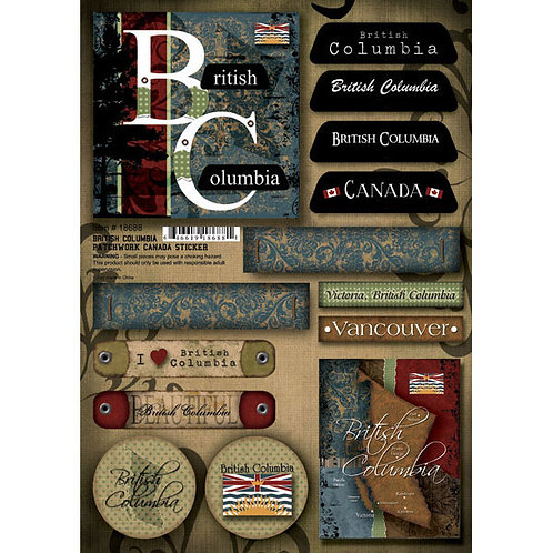 British Columbia Patchwork Stickers