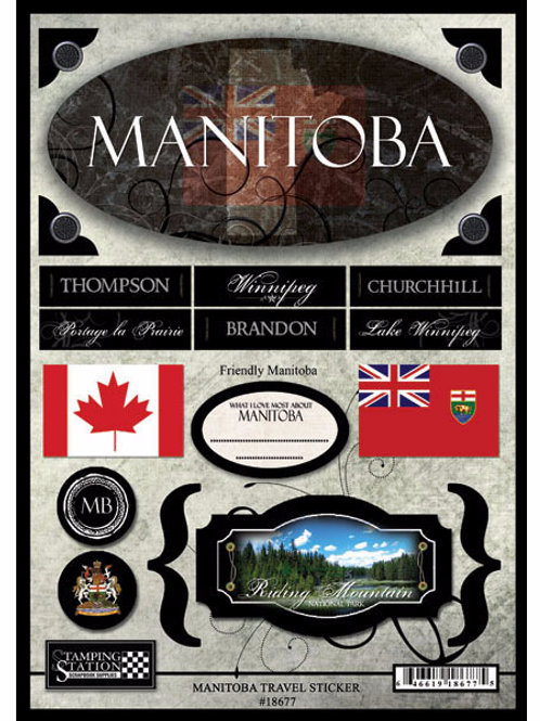 Manitoba Travel Sticker Sheet