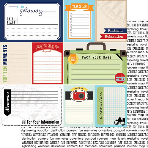Travel Journal Cut Outs Cardstock