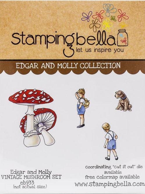 Edgar and Molly Vintage Mushroom Stamp Set