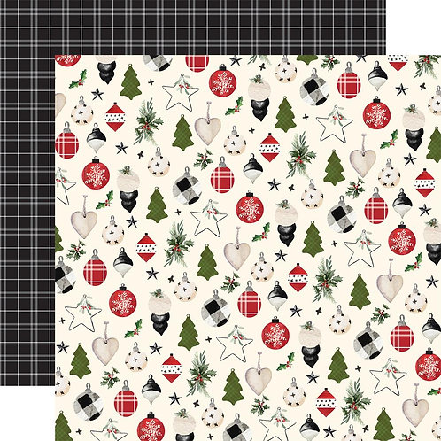 Carta Bella Christmas Festive Ornaments Cardstock