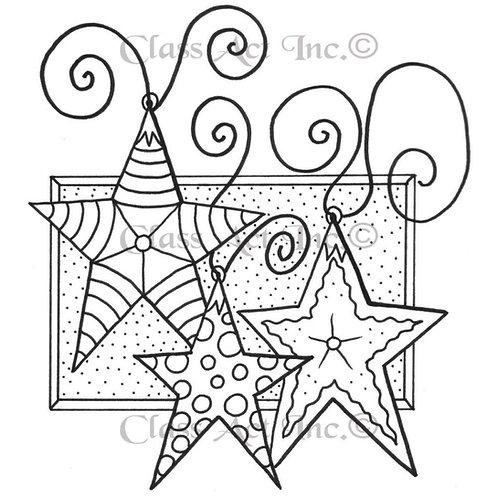 Three Stars Rubbe Stamp
