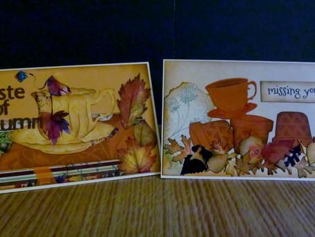 Autumn Greetings Tea Cards