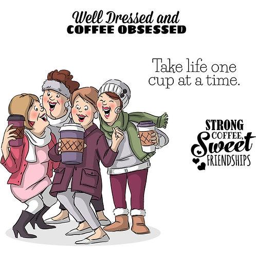 Girlfriends Latte Love Stamp Set