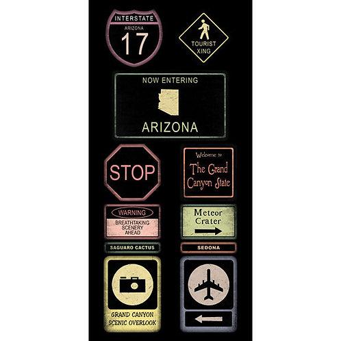 Arizona Road Sign Stickers