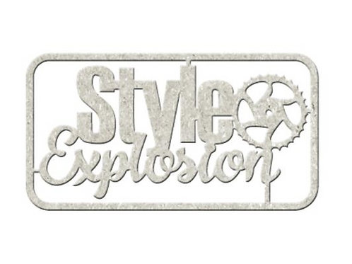 Style Explosion Chipboard Embellishment