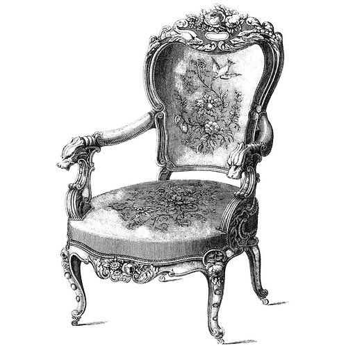 Antique Chair Silicone Stamp