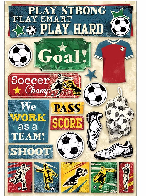 Soccer Goal Sticker Sheet