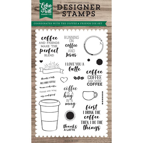 Coffee and Friends Clear Stamp Set