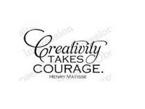 Creativity Takes Courage Stamp