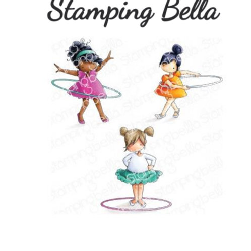 Hula Hoopers Cling Rubber Stamp Set