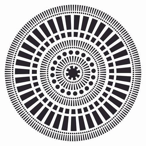 Mini Mayan Calendar 6x6 Template