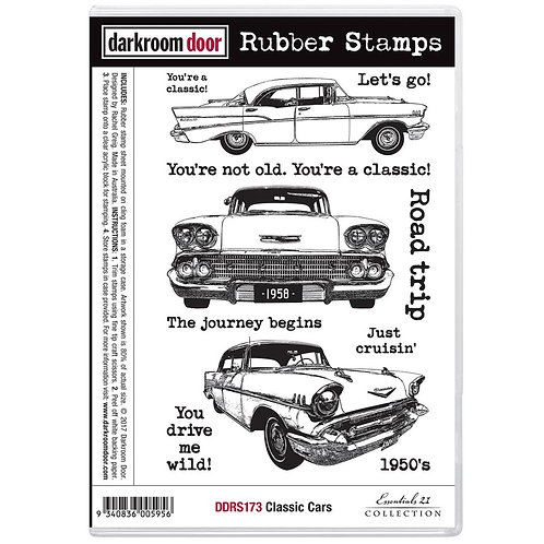 Classic Cars Vol 1 Cling Rubber Stamps