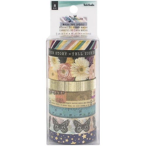 Storyteller Washi Tape with Gold Glitter and Foil