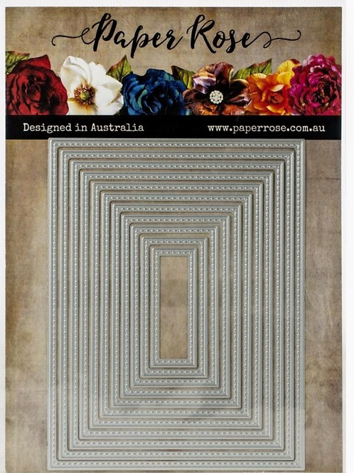 Stitched Rectangles Nesting Die Set