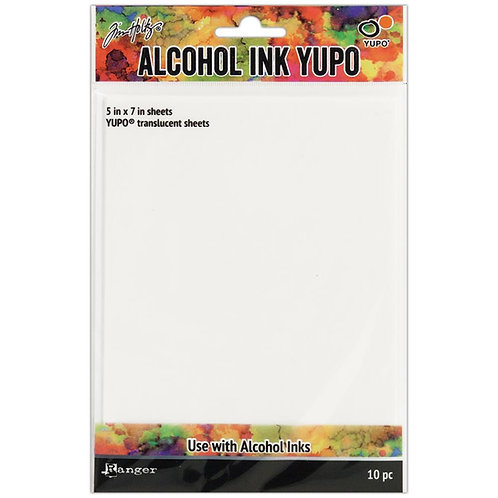 Alcohol Ink YUPO Translucent Sheets 10pk